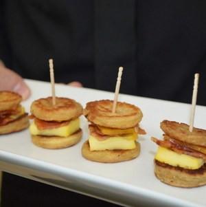 Mini Eggy Bread sandwiches