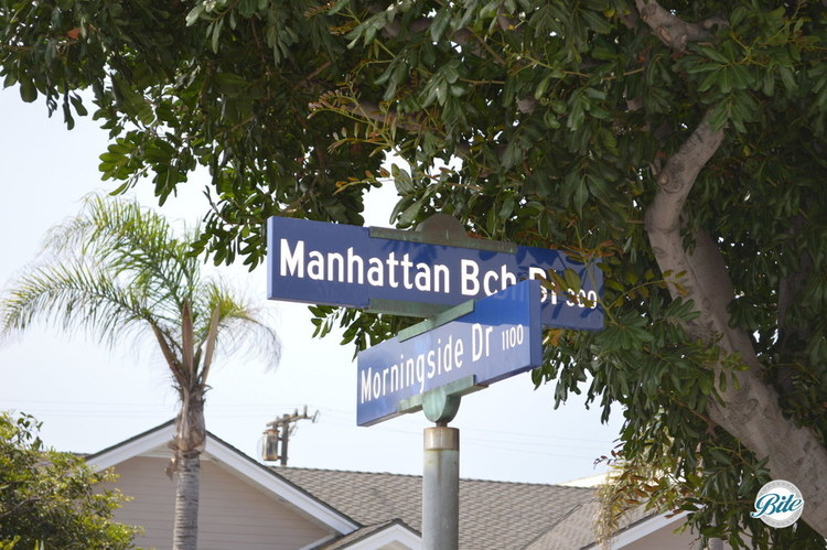 Manhattan Beach Blvd and Morningside by Trina Turk store in downtown