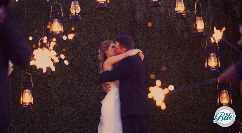 Wedding Photos - Kissing under the lanterns