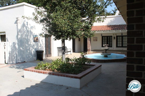Courtyard with fountain inside Orcutt Ranch
