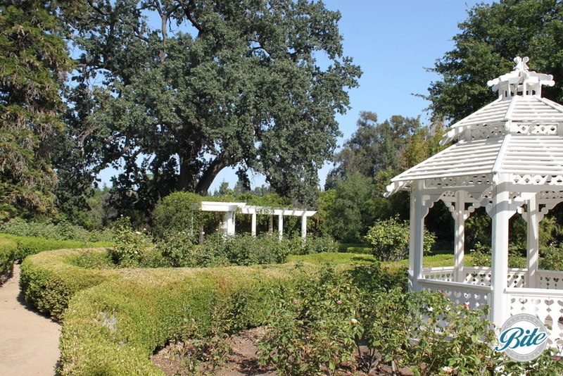 Gazebo and the adjacent garden paths at Orcutt Ranch