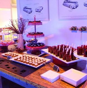 Sticky Toffee Pudding Dessert Shots on Holiday Display