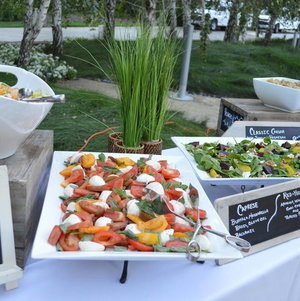 Assortment of Salads on a Station