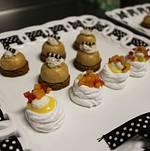 Mini Pavlova and Mini Pumpkin Cheesecakes