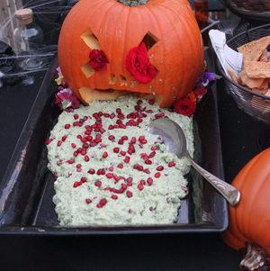 Puking Pumpkin Halloween Appetizer