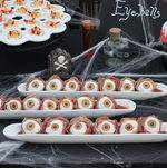 Eyeballs and Devil's Eggs on Halloween Display