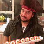 Pirate Serving Up a Tray of Eyeballs