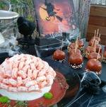 Brains and Staked Hearts on Halloween Display