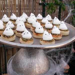 Ghostly Puff Pastry Canape
