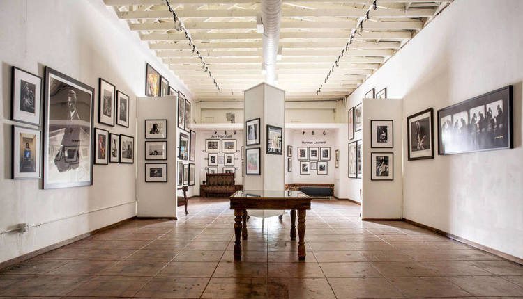 A look into the spacious indoor gallery and creative space at Mr Musichead