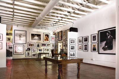 2000 sq ft of indoor gallery space covered with photos of some of the most interesting moments in music history