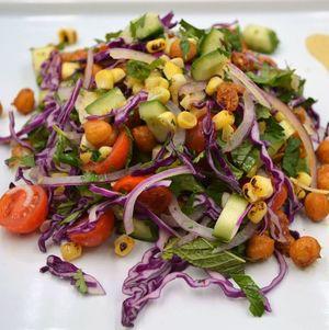 Cucumber And Fried Garbanzo Salad