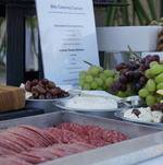 Salami and Cheese on Charcuterie Station