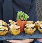 Plantain Cups w/ Tequila Lime Shrimp