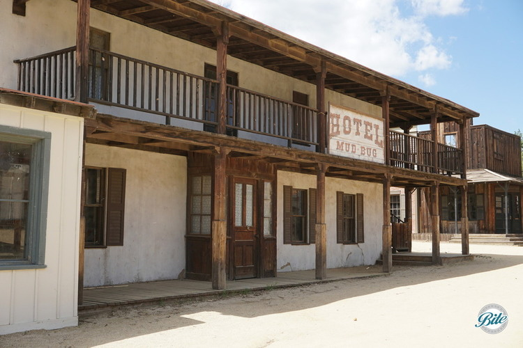 Hotel Mud Bug facade in Western Town of Paramount Ranch