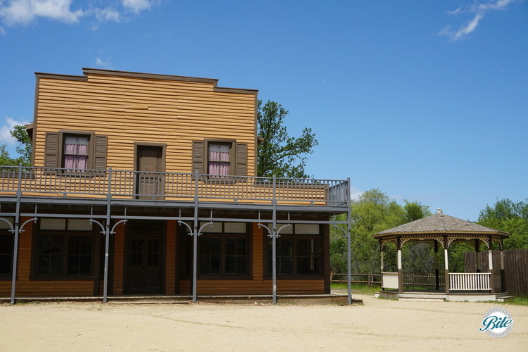 Old Saloon in Western Town at the Paramount Ranch