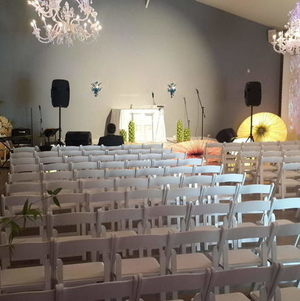 Chairs Set Up For Ceremony in Unici Casa