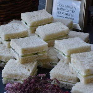 Cucumber and Boursin Tea Sandwiches