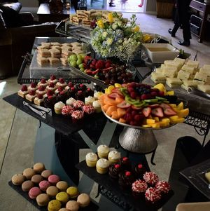 Tea and Orchards Harvest Buffet Setup on Table