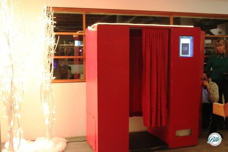 Photobooth in a perfect place to duck away and take photos at a holiday party