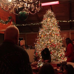 Christmas Tree at Holiday Party