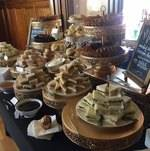 Tea Sandwiches on Buffet