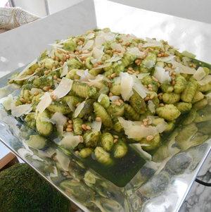 Gnocchi on buffet