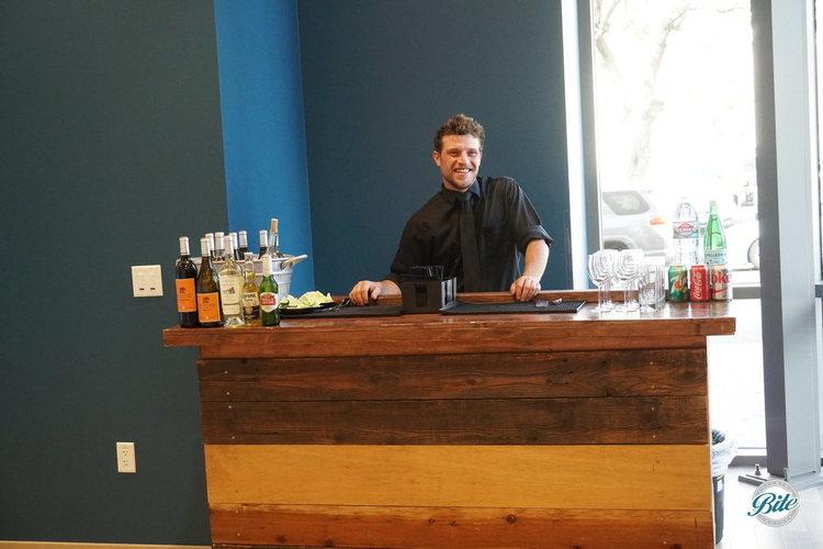 Bar setup inside corporate event space