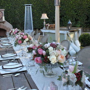 Lovely Garden Setting for Dinner Outdoors