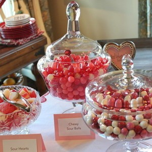 Valentine's Candy Display