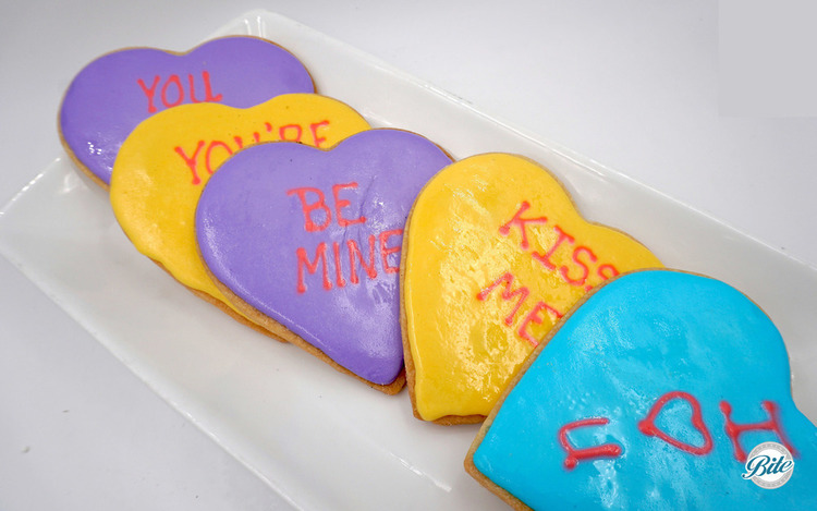 Larger hand-decorated sugar cookies to include sweet messages of love and amor.  Or the opposite...it's really up to you.