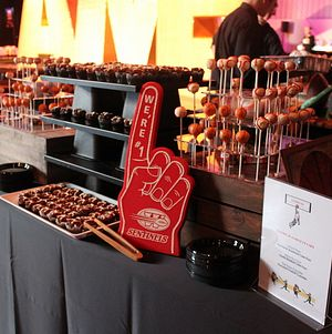 Sports Themed Dessert Display @ Hall of Games Awards