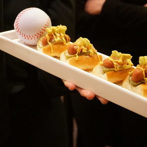 Mini Chicago Dogs Tray Passed