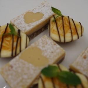 Lemon Bar and Passionfruit Cheesecake