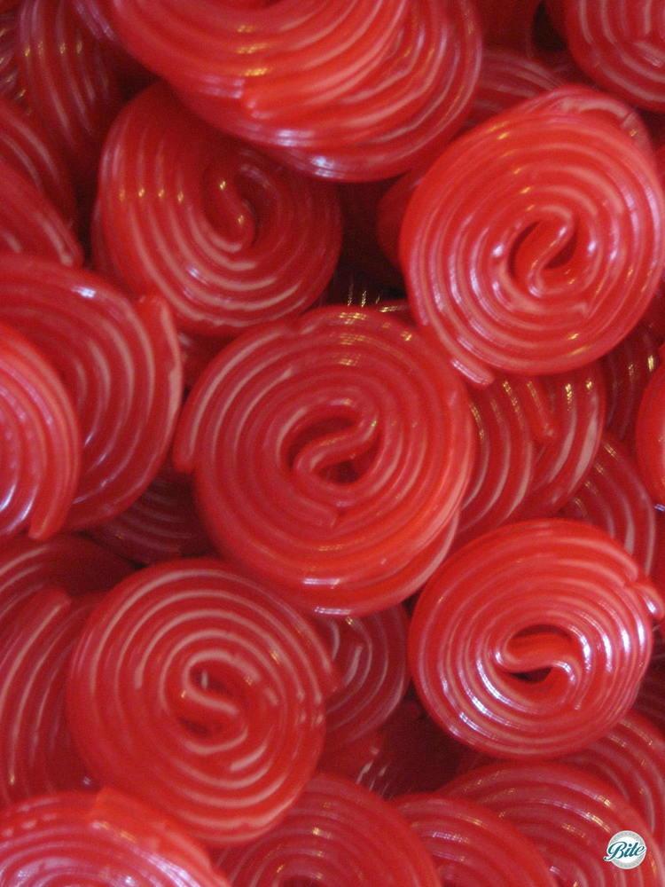 Licorice swirls closeup