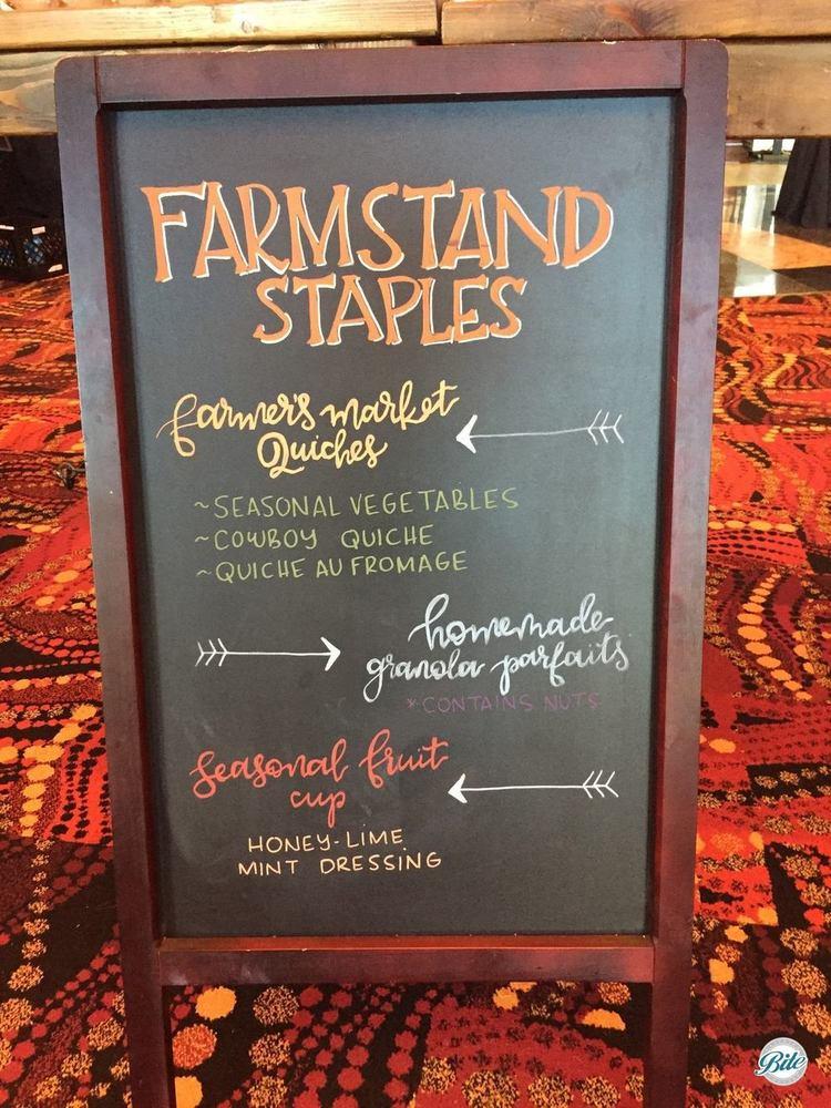 Farmstand menu on chalk