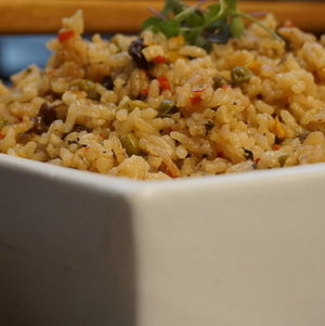 Brazilian Rice in Square Bowl
