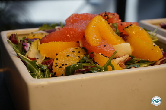Seasonal Citrus Salad in Square Bowl