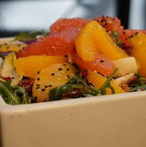 Seasonal Citrus Salad in Square Bowl