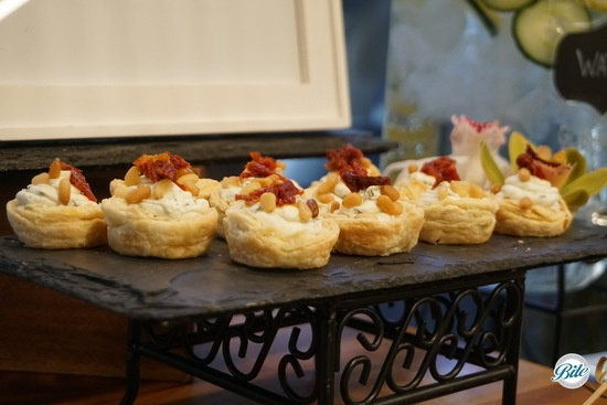 Puff Pastry Cups on Slate Display