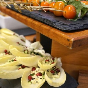 Belgian Endive Canapes on Display