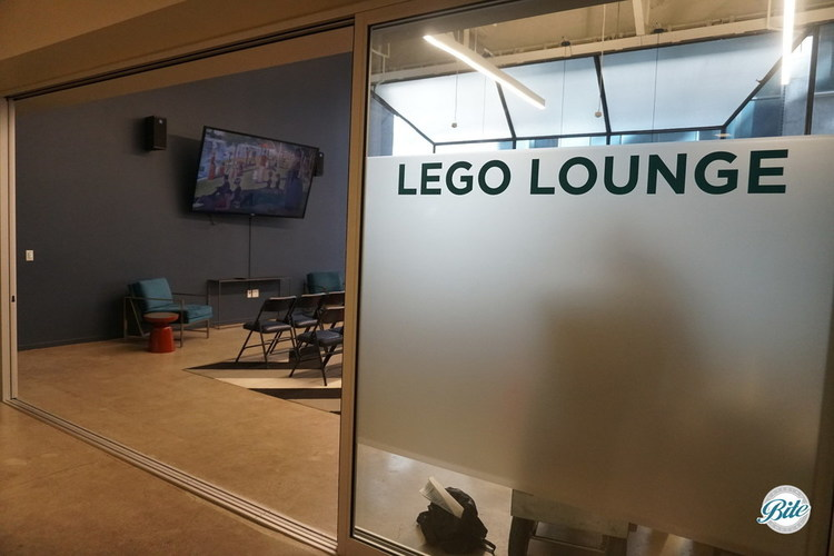 Lego Lounge space setup for a corporate event