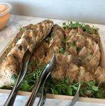 Citrus Roasted Chicken on Wooden Tray