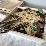 Spanish Harvest Salad in Wooden Tray
