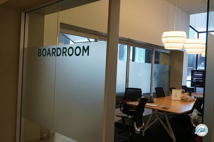 Boardroom next to Lego Lounge or small meetings or a control center during larger events