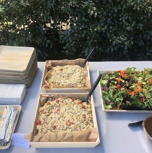 Orzo and Mixed Green Salads