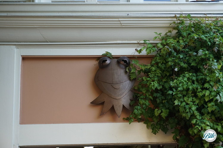 Kermit over the doorway at Jim Hensons Studio
