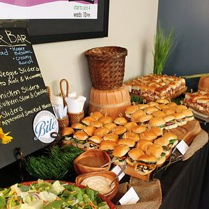 Mini slider bar on rustic display