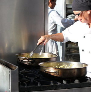 Chef Cooking Outside