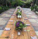 Long Table Set for Evening Reception